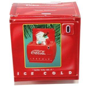 NIB Enesco Coca Cola Ornament Santa Delivers 1994